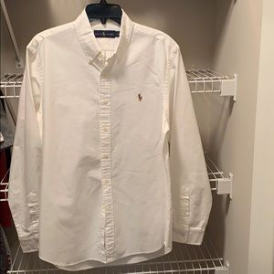 Ralph Lauren White Burton Down Dress Shirt